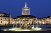 ドイツ シュロスプラッツ広場 噴水