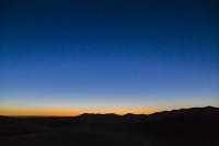 モロッコ サハラ砂漠の朝焼