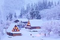 富山県 雪の五箇山 相倉合掌集落
