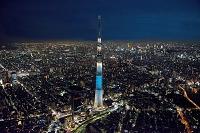 東京都 夜の東京スカイツリー(粋)より都心