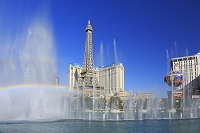 アメリカ合衆国 ラスベガス ベラッジオの噴水ショーとパリスと...