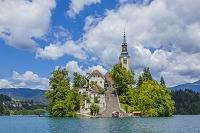 スロベニア ブレッド ブレッド湖と聖マリア教会