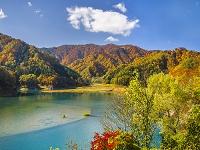 秋田県 秋扇湖 紅葉