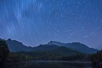長野県 鏡池 夜景