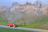 青森県 リンゴ農家の農薬散布