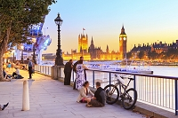 イギリス ロンドン テムズ川とビッグベン
