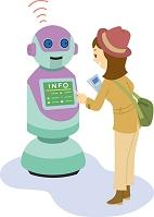 観光案内をするロボット