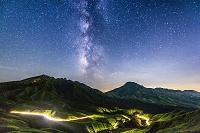 熊本県 星空の阿蘇山