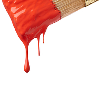 赤いペンキ