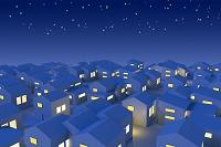 イラスト 住宅の明かり