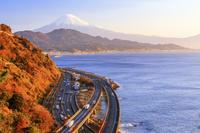 静岡県 薩埵峠より朝の富士山