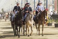 スペイン アンダルシア 馬に乗る男性