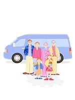 二世帯家族と車