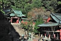 静岡県 久能山東照宮 唐門と拝殿と博物館