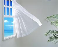 海 なびくカーテン