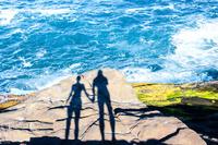 ブラジル 岩に映る影