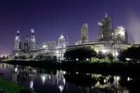 新潟県 旭カーボンの工場夜景