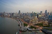 上海 外灘街並俯瞰