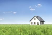 草原に建つ住宅 CG