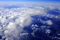 上空からの山伏と源氏山と櫛形山