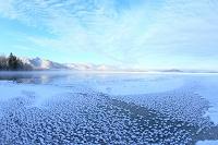 北海道 フロストフラワーと屈斜路湖