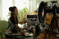 美容のビデオブロガー