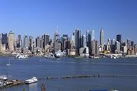 ハドソン川とマンハッタン展望
