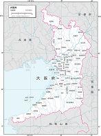 大阪府 白地図