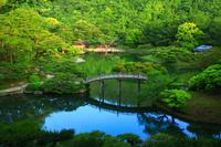 香川県 高松市 早朝の栗林公園