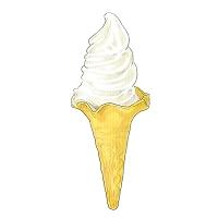 イラスト ソフトクリーム,バニラ