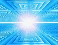 四角バックと白線と光