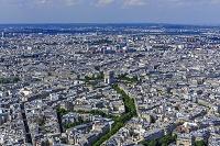 パリ 市街 中央:凱旋門 俯瞰
