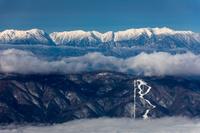 長野県 八ヶ岳より入笠山と中央アルプス連山