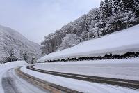 冬の国道156号線(飛騨谷合掌ライン)