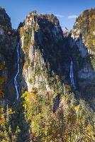 北海道 層雲峡 流星・銀河の滝を双瀑台より望む