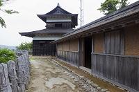 愛知県 足助城本丸 高櫓と長屋