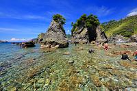 静岡県 ヒリゾ浜の透明な海