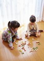 数字で遊ぶ姉妹