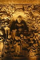 インド アジャンタ石窟群 第26窟 浮彫