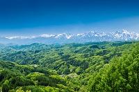 長野県 鬼無里 大望峠展望台から北アルプス