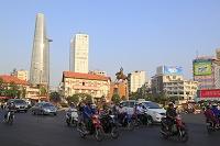 ベトナム ベンタイン市場付近の街並み