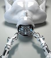 アンドロイドの脳を修理するロボット
