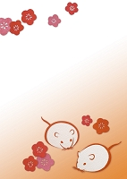 ねずみと花 CG