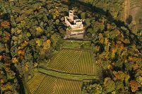 フランス 黄葉とキンツハイム城