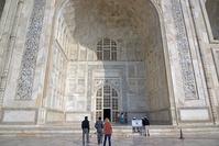 インド タージ・マハル 墓廟正面入り口