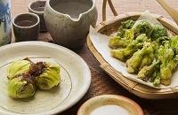 蕗味噌と天ぷら
