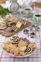 皿にのせたクッキー