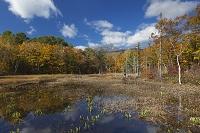 長野県 紅葉のどじょう池と乗鞍岳