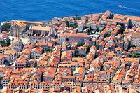 クロアチア スルジ山展望台からのドゥブロヴニク旧市街
