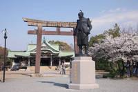 大阪府 豊国神社の豊臣秀吉公像